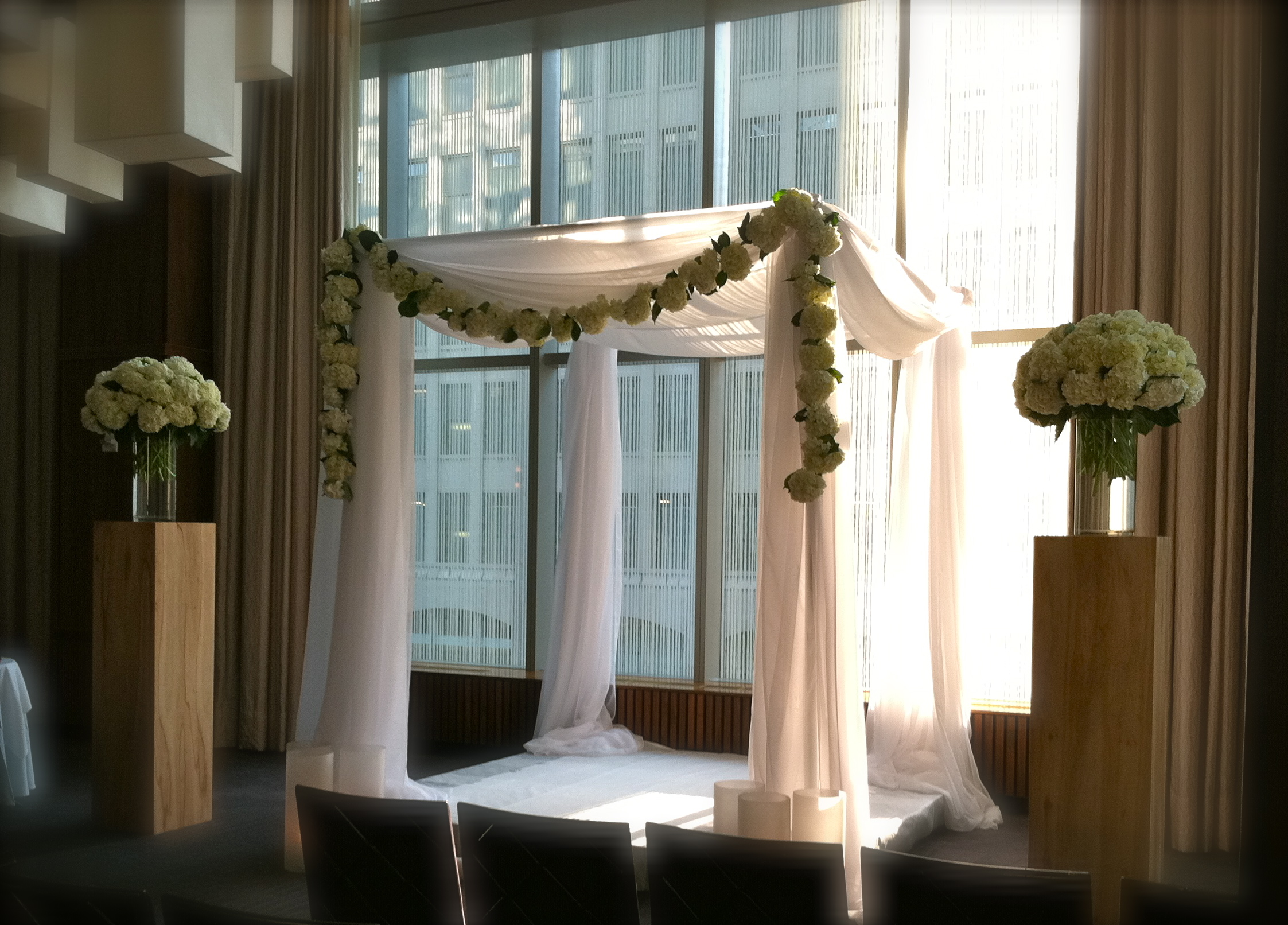 Pergola fabric wedding